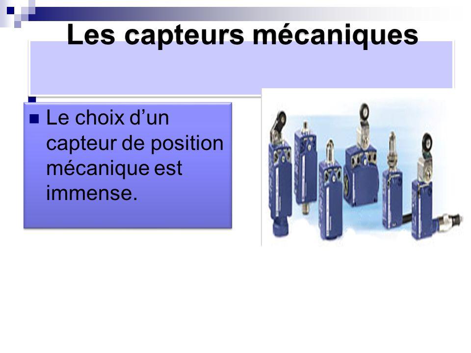 Les capteurs mécaniques