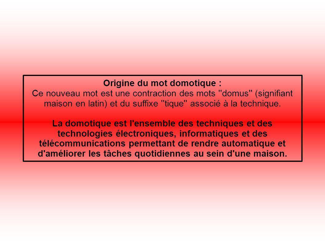 Origine du mot domotique :