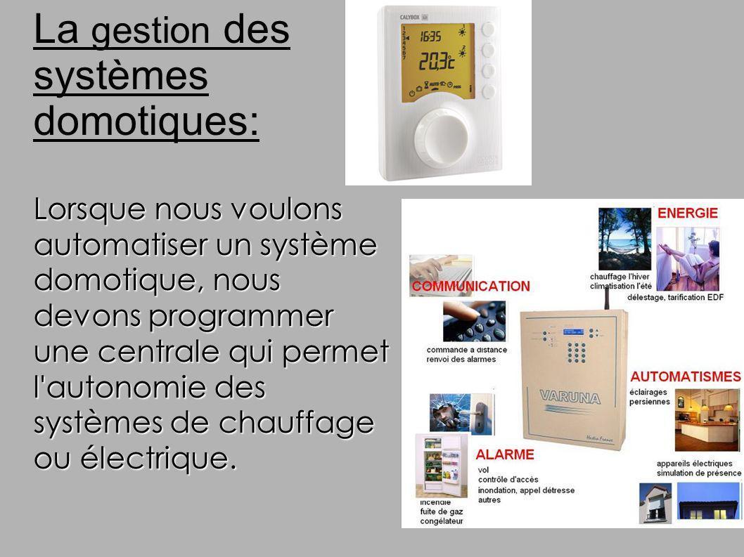 La gestion des systèmes domotiques: