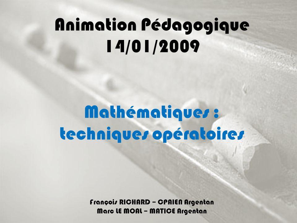 Animation Pédagogique 14/01/2009