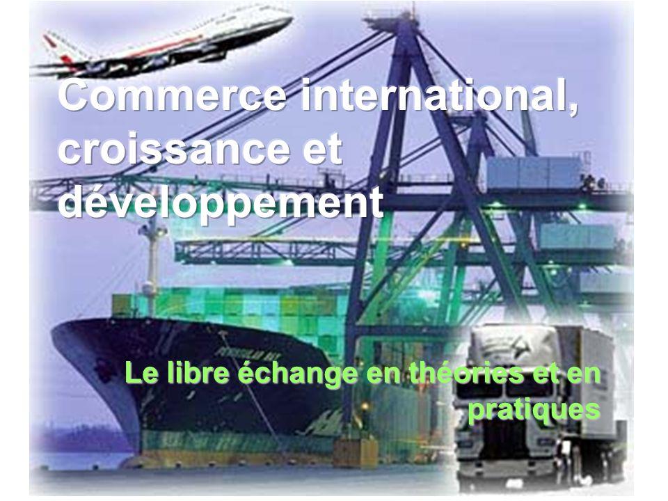 Commerce international, croissance et développement