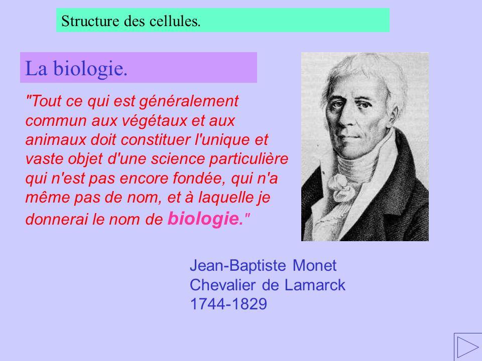 La biologie. Structure des cellules.