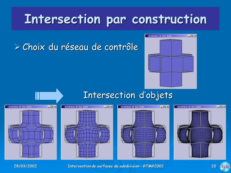 Intersection par construction