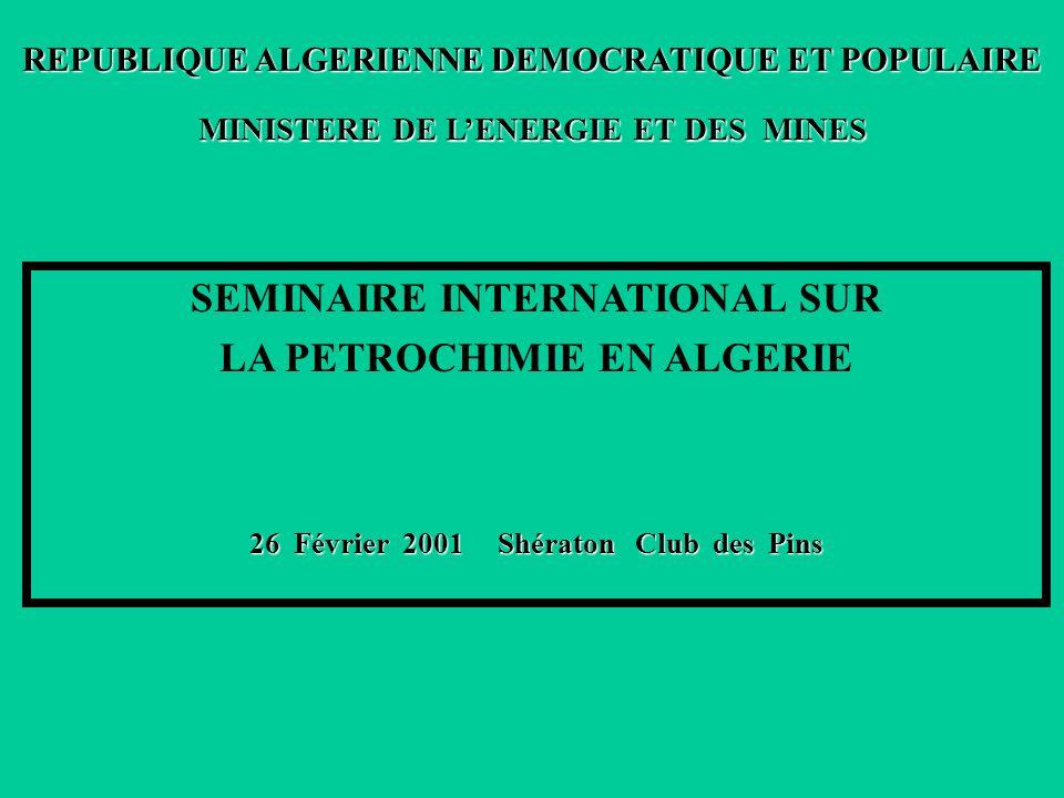 SEMINAIRE INTERNATIONAL SUR LA PETROCHIMIE EN ALGERIE