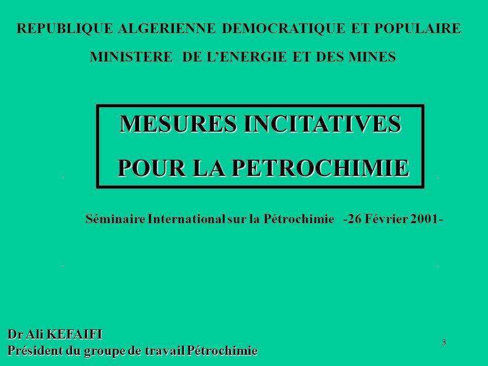 Séminaire International sur la Pétrochimie -26 Février 2001-