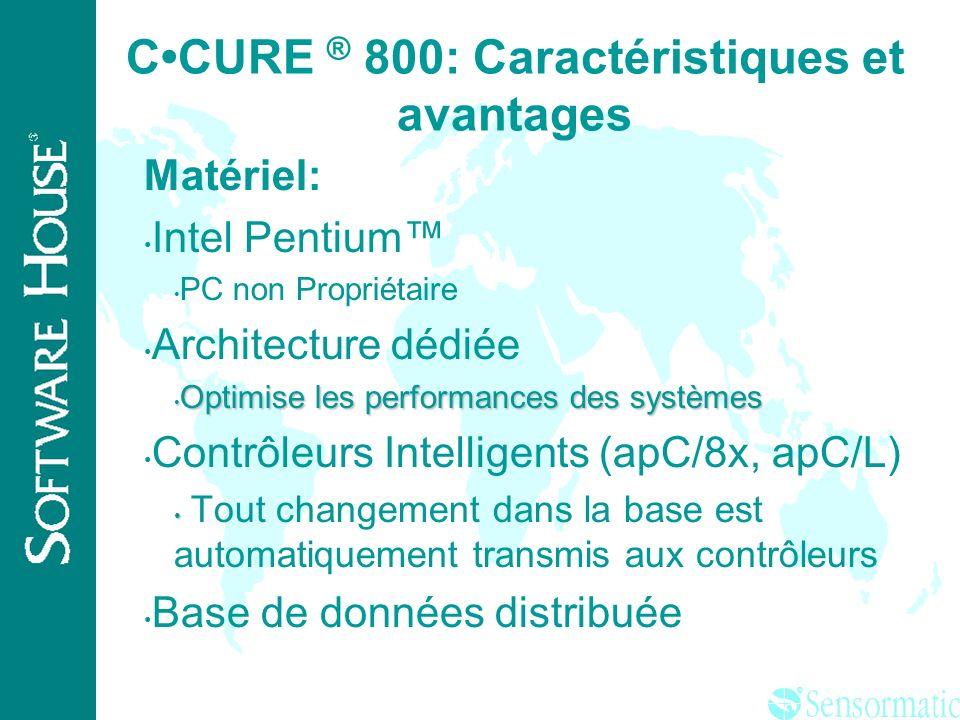 C•CURE ® 800: Caractéristiques et avantages