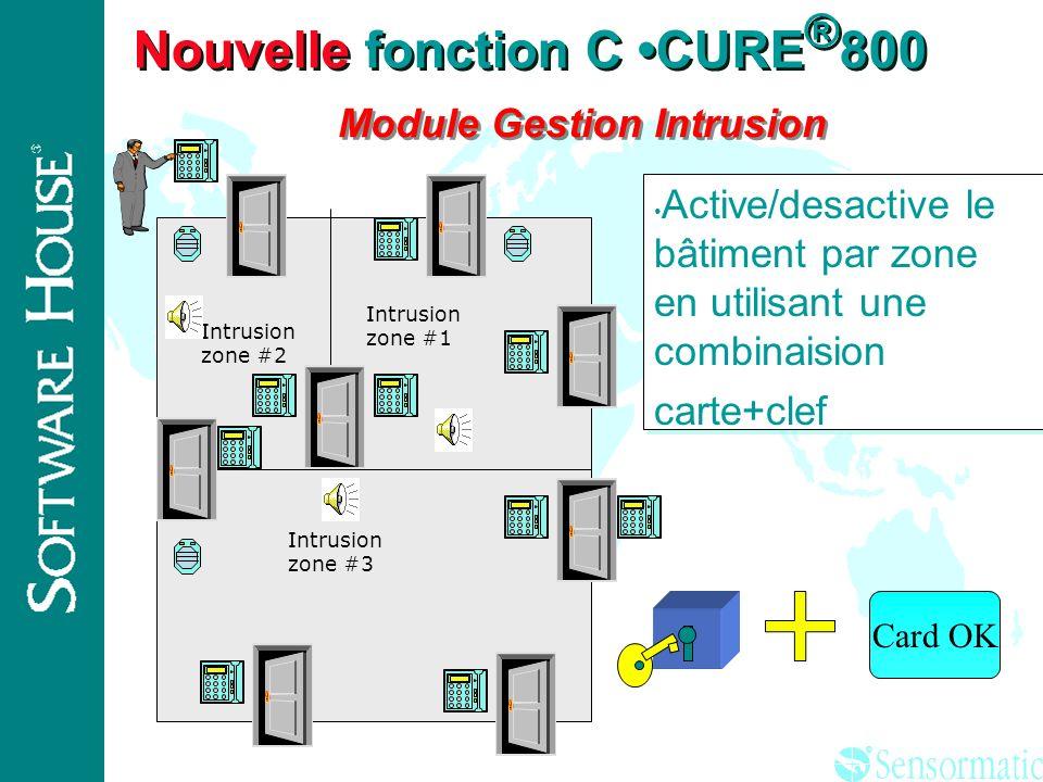 Nouvelle fonction C •CURE®800 Module Gestion Intrusion