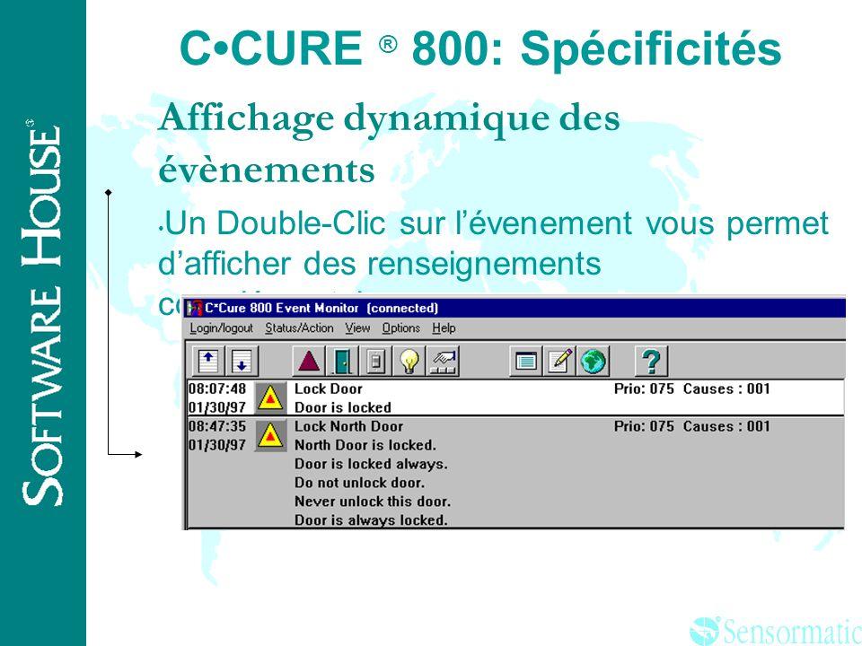 C•CURE ® 800: Spécificités