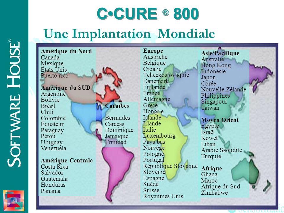 C•CURE ® 800 Une Implantation Mondiale Amérique du Nord Canada Mexique