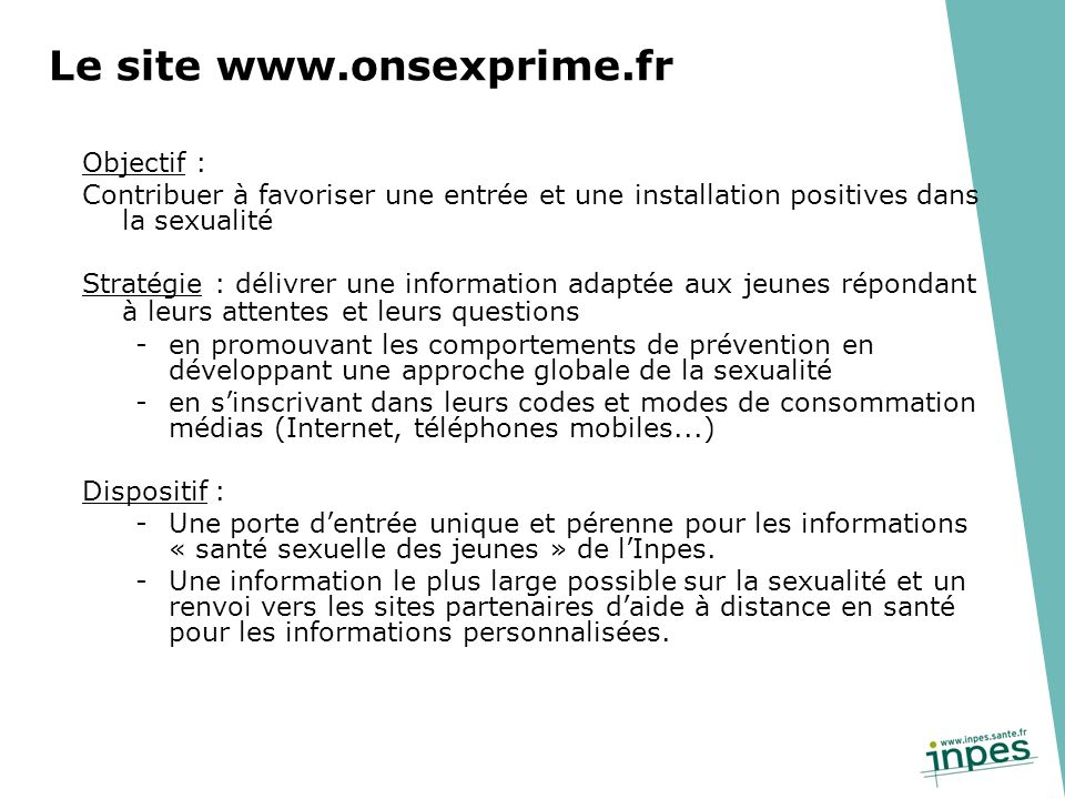 Le site www.onsexprime.fr