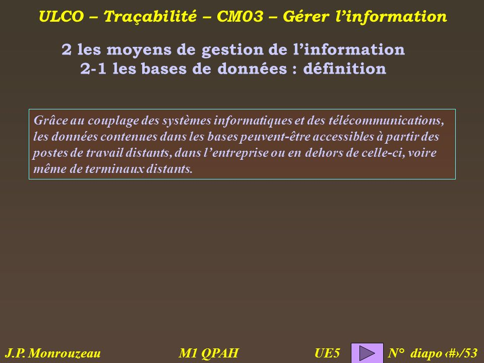 2 les moyens de gestion de l'information