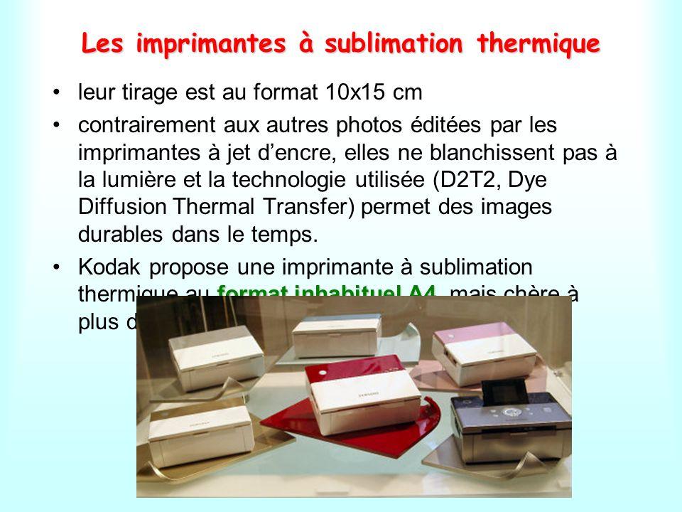 Les imprimantes à sublimation thermique