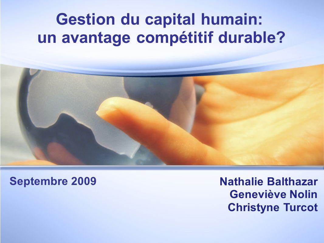 Gestion du capital humain: un avantage compétitif durable