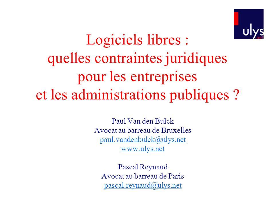 Logiciels libres : quelles contraintes juridiques pour les entreprises et les administrations publiques
