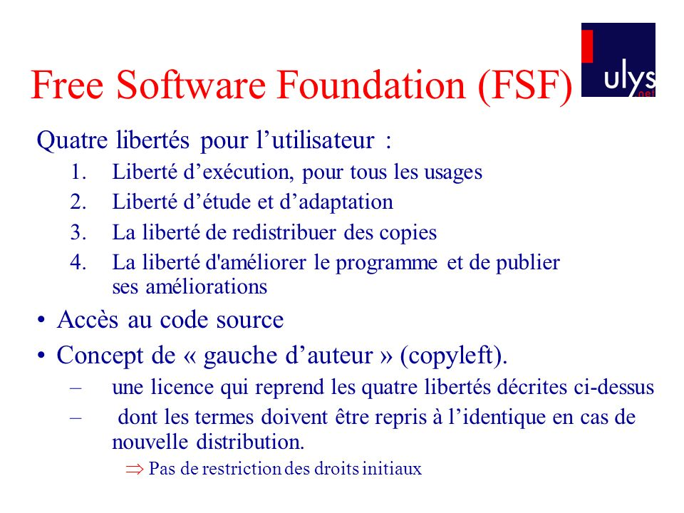 Free Software Foundation (FSF)