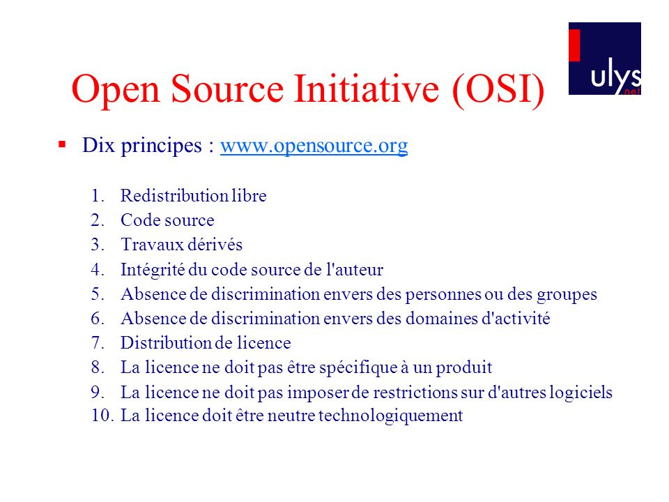 Open Source Initiative (OSI)