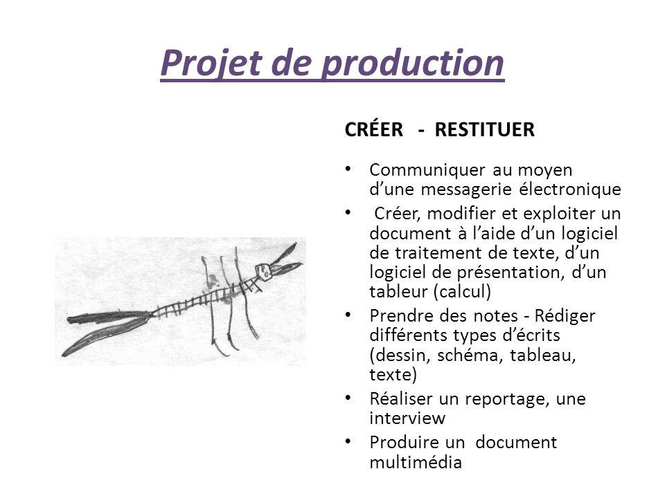 Projet de production CRÉER - RESTITUER