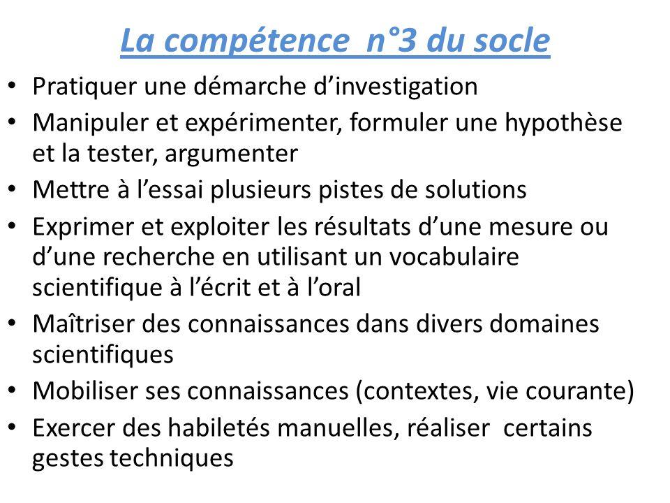 La compétence n°3 du socle