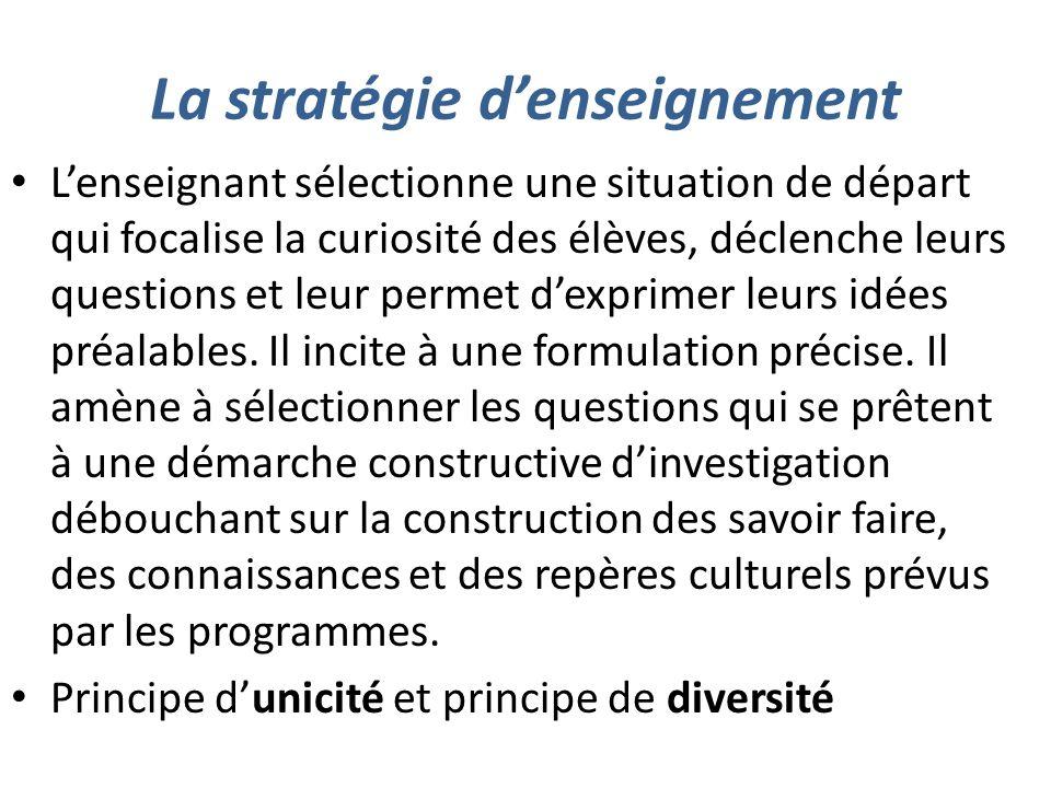 La stratégie d'enseignement