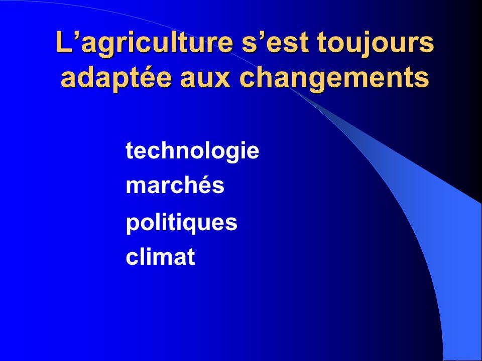 L'agriculture s'est toujours adaptée aux changements