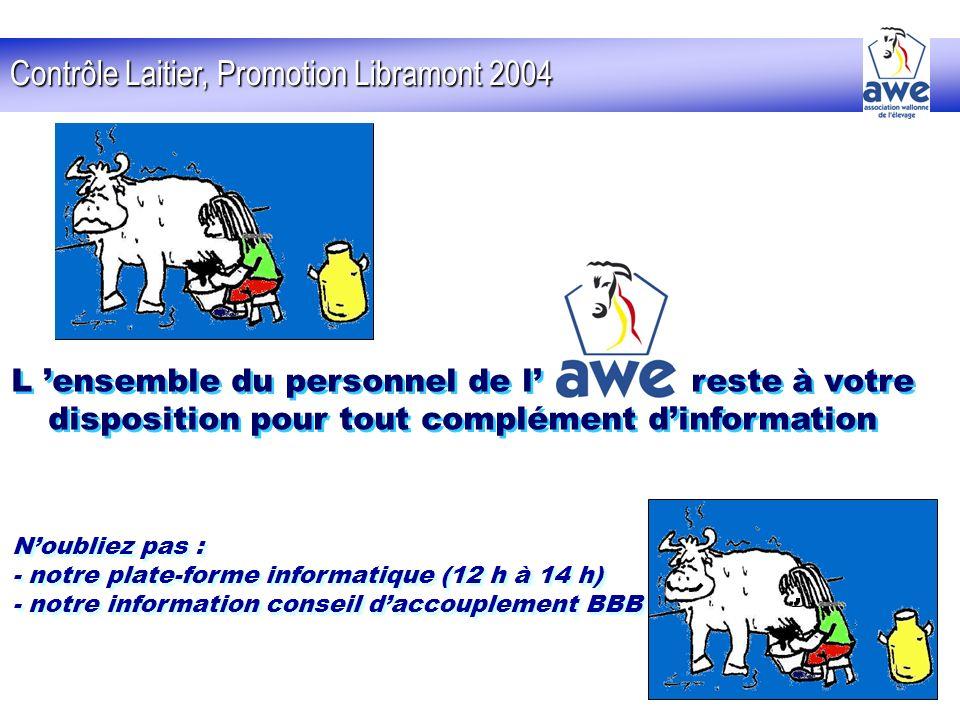 Contrôle Laitier, Promotion Libramont 2004