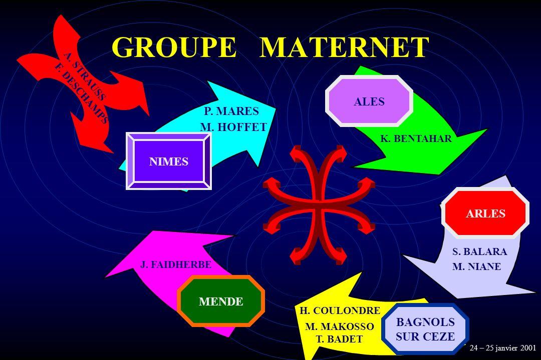 GROUPE MATERNET ALES P. MARES M. HOFFET NIMES ARLES MENDE BAGNOLS