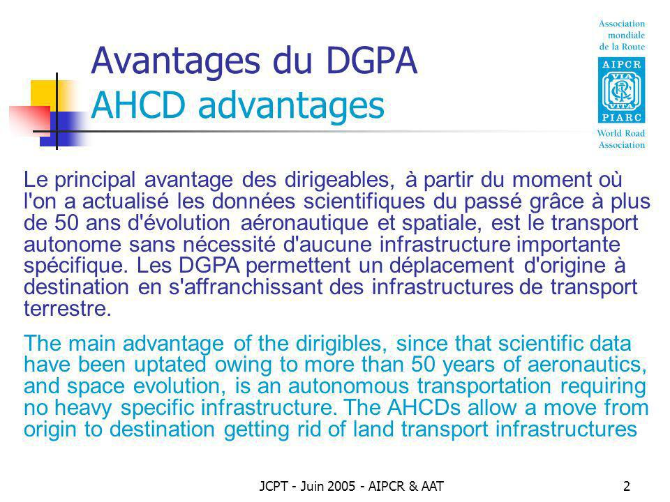 Avantages du DGPA AHCD advantages