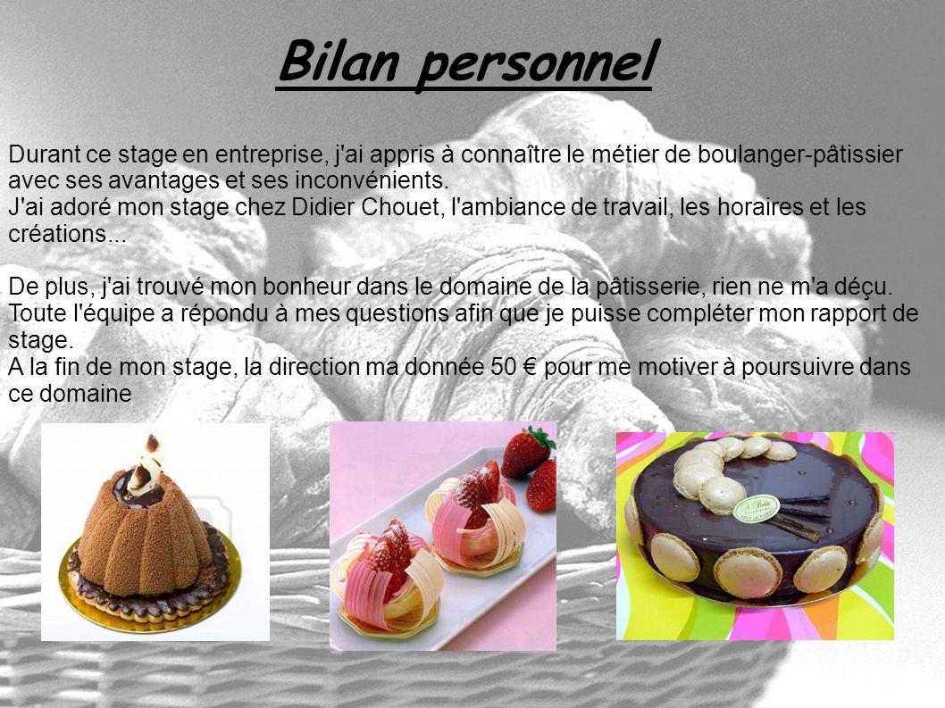stage en entreprise  boulanger  chocolatier  p u00e2tissier