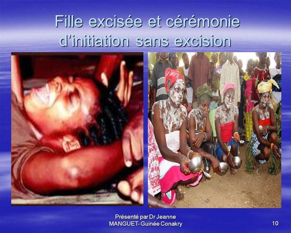 Fille excisée et cérémonie d'initiation sans excision