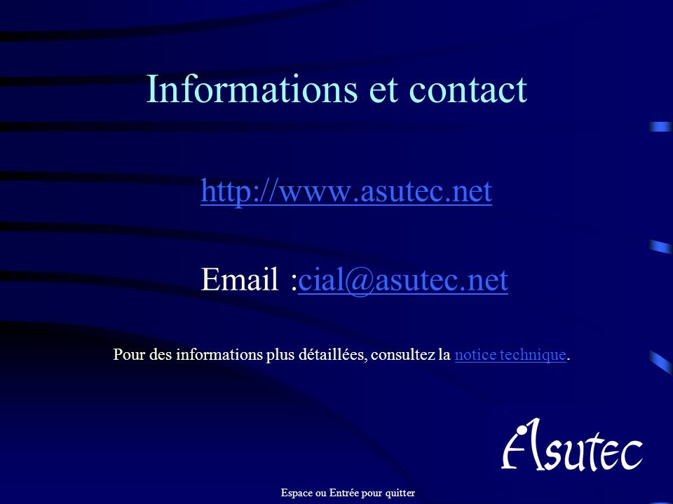 Informations et contact