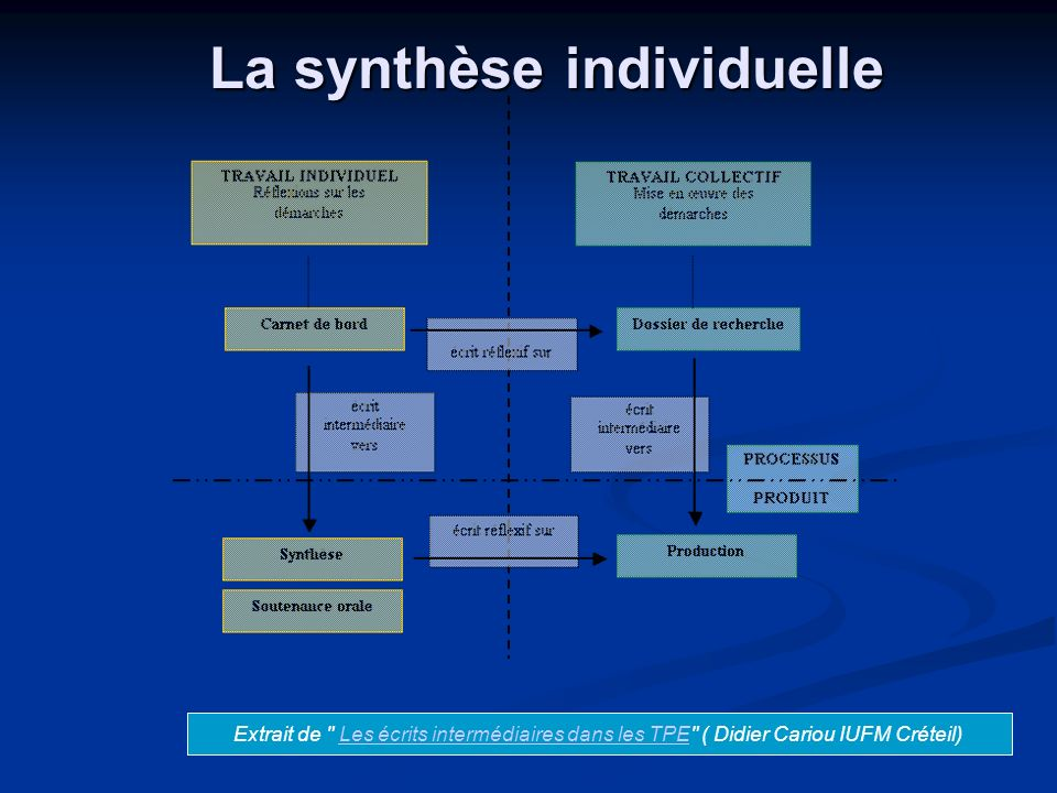 La synthèse individuelle