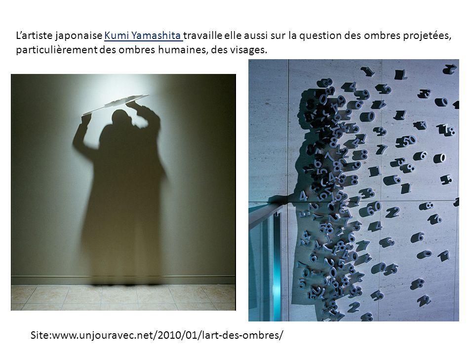 L'artiste japonaise Kumi Yamashita travaille elle aussi sur la question des ombres projetées, particulièrement des ombres humaines, des visages.