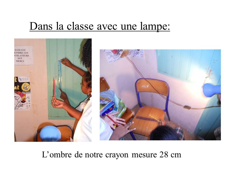 Dans la classe avec une lampe: