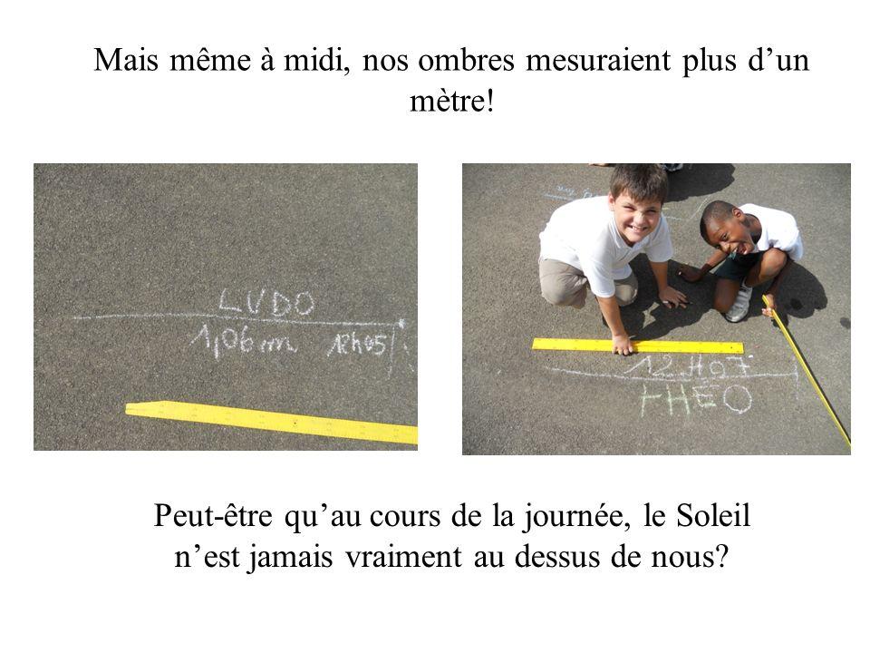 Mais même à midi, nos ombres mesuraient plus d'un mètre!