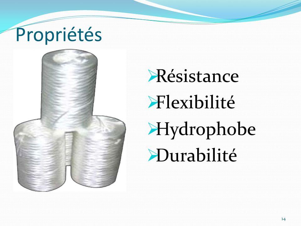 Propriétés Résistance Flexibilité Hydrophobe Durabilité