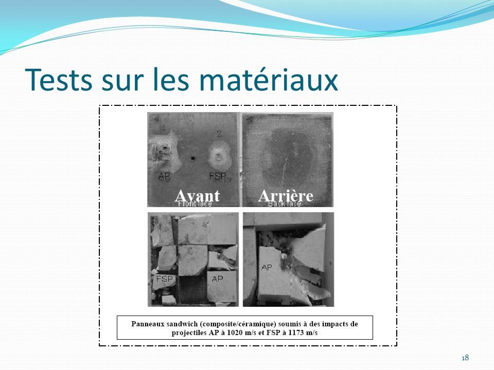 Tests sur les matériaux