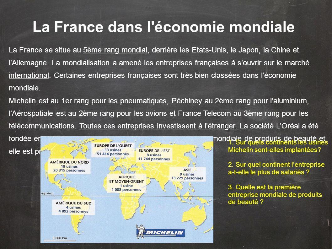 La France dans l économie mondiale