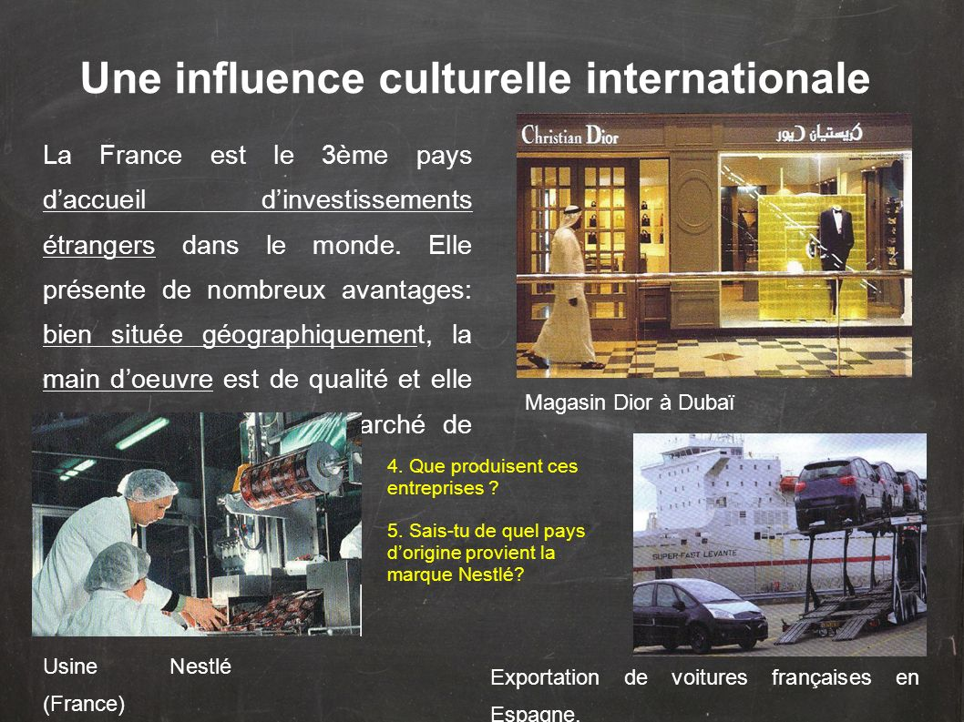 Une influence culturelle internationale