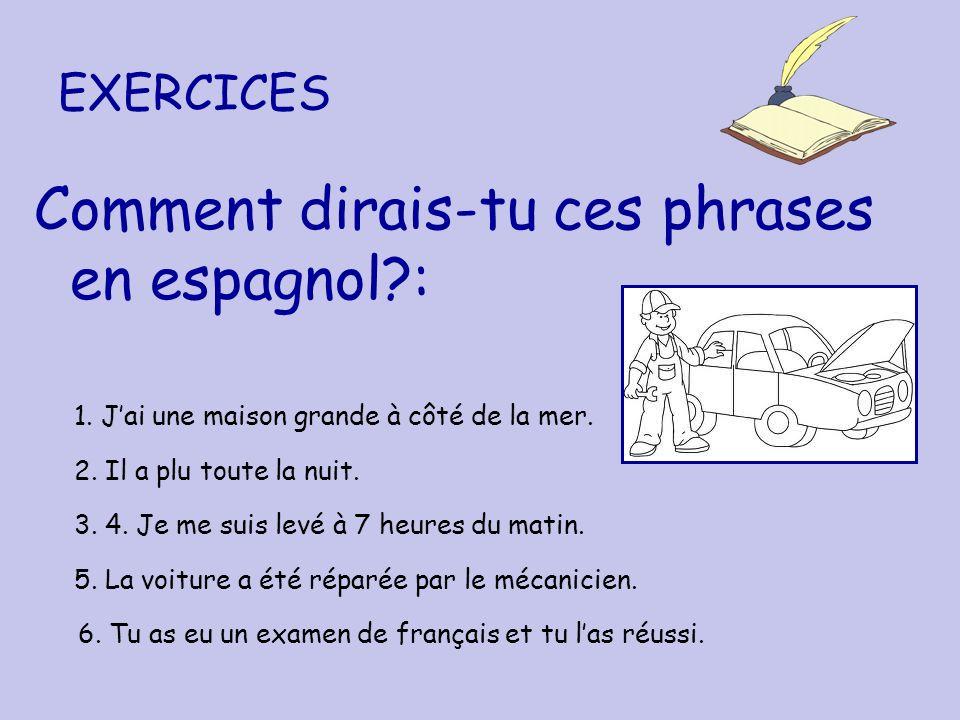 Comment dirais-tu ces phrases en espagnol :