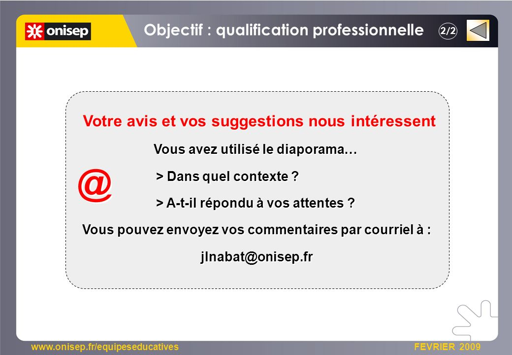 @ Objectif : qualification professionnelle