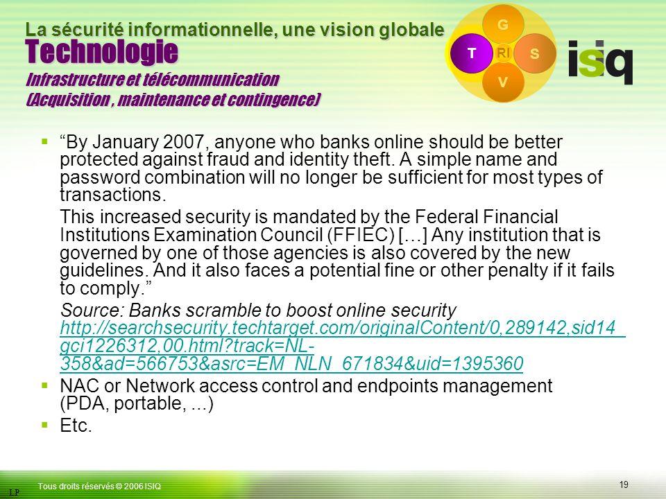 G Technologie Infrastructure et télécommunication (Acquisition , maintenance et contingence) T. S.