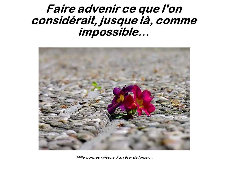 Faire advenir ce que l on considérait, jusque là, comme impossible…
