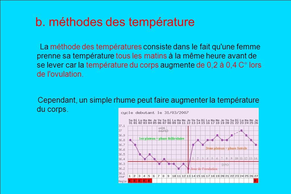 b. méthodes des température