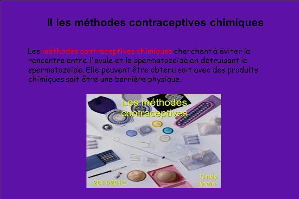 II les méthodes contraceptives chimiques
