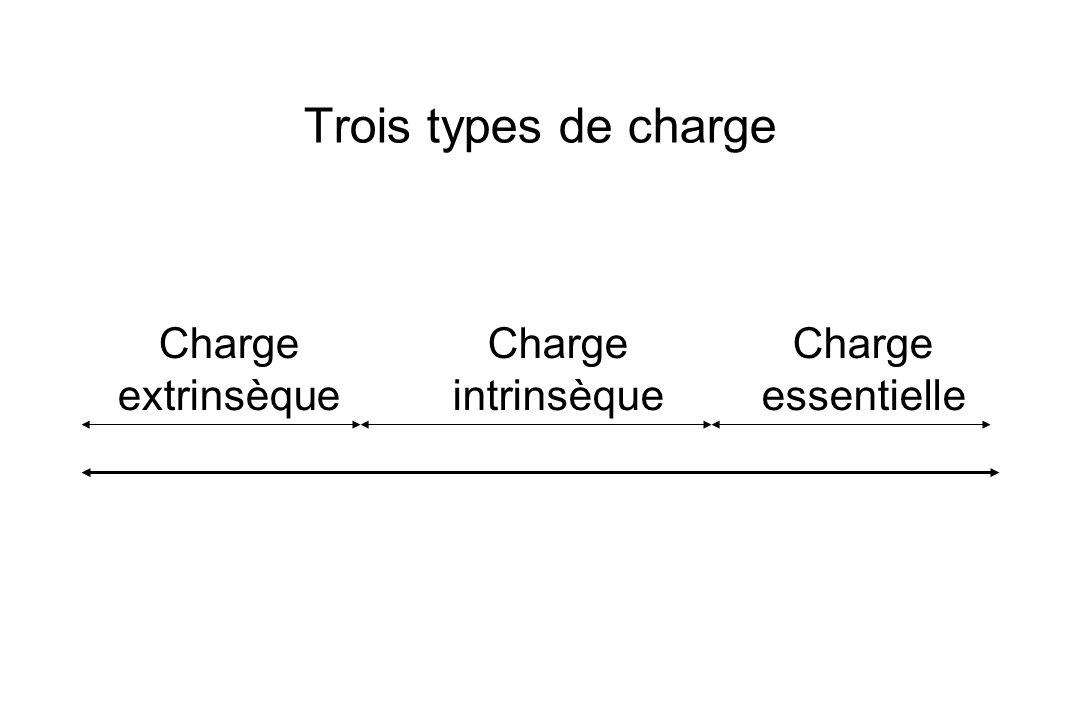 Trois types de charge Charge extrinsèque Charge intrinsèque