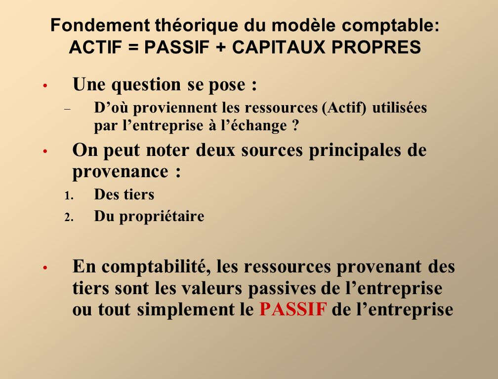 On peut noter deux sources principales de provenance :
