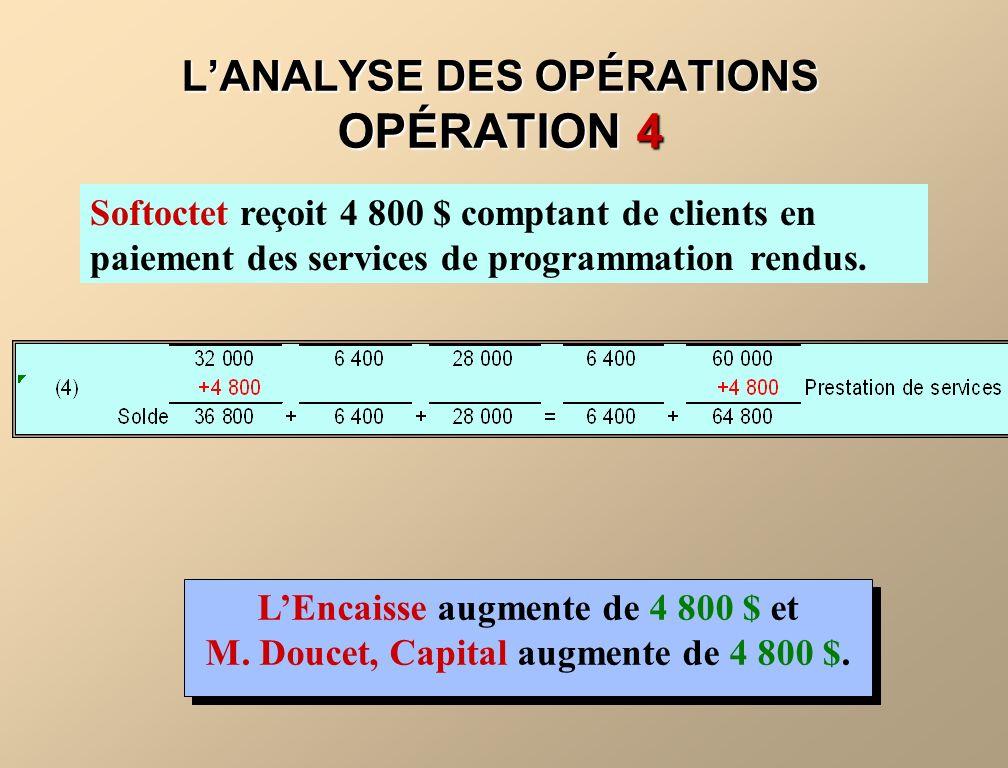 L'ANALYSE DES OPÉRATIONS OPÉRATION 4