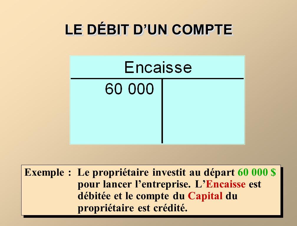 LE DÉBIT D'UN COMPTE