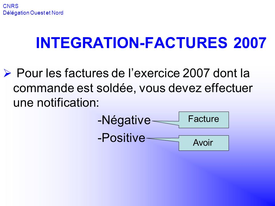 INTEGRATION-FACTURES 2007