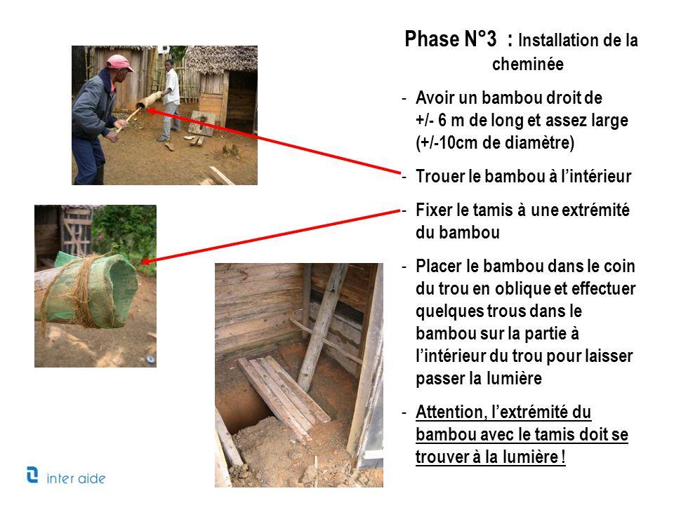 Phase N°3 : Installation de la cheminée